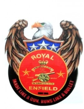 Motopart Custom Made Like A Gun Tank pad Sticker for Royal Enfield Bullet Sticker