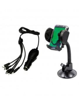 Combo Of Car Charger With Multi Pin & Mobile Holder With Frame