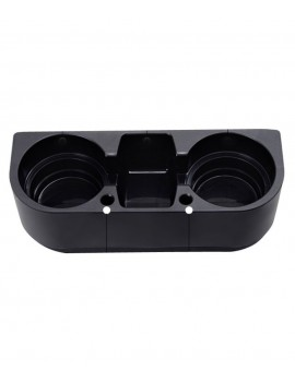 Plastic Dual Cup Holder - Black