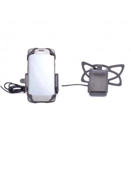 Bike Mobile Holder Mount With Built in USB Charger Mobile Charger For All bikes