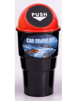 Mini Car Trash Bin Red
