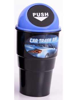 Mini Car Trash Bin Blue