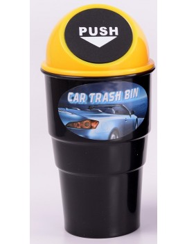 Mini Car Trash Bin yellow
