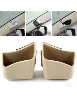 2 X Car Pillar Pocket Holder Box Cigarette Cellphone Sunglass Holder Beige For All Car