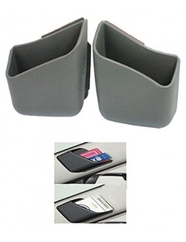 2 X Car Pillar Pocket Holder Box Cigarette Cellphone Sunglass Holder Grey For All Car