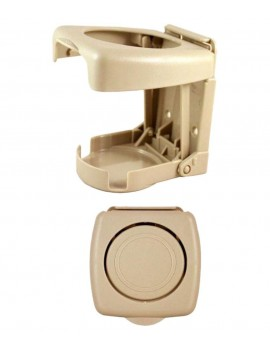 Foldable Car Drink Cane Holder Beige