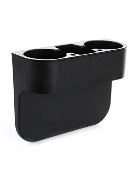 Car Valet Front Seat Organiser Mobile/Glass Holder Black