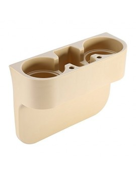 Car Valet Front Seat Organiser Mobile/Glass Holder Beige