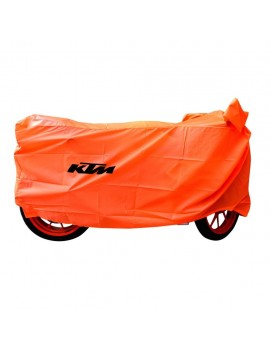 Waterproof Body Cover Motopart Premium Quality Bike Body Cover With Mirror Pockets Orange  - KTM Duke 390 ABS