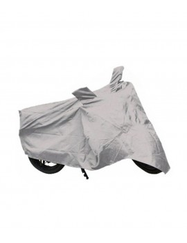 Waterproof Body Cover Motopart Premium Quality Bike Body Cover Silver for Bike