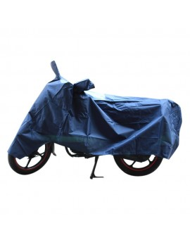 Waterproof Body Cover Motopart AMERICAN MATTY PREMIUM QUALITY WATERPROOF COATING BIKE BODY COVER WITH MIRROR POCKETS Blue
