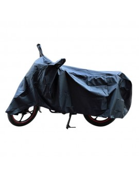 Waterproof Body Cover Motopart AMERICAN MATTY PREMIUM QUALITY WATERPROOF COATING BIKE BODY COVER WITH MIRROR POCKETS Black