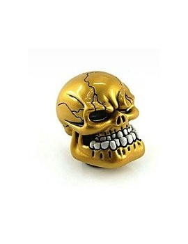Golden Skull Gear Knob