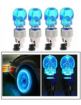 Blue Skull Car Tyre LED...
