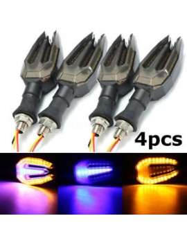 2XBikes Turn Signals Indicator Blinker Double color Light Amber Blue For Honda