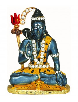 Gfaith Blue Brass Hiways God Idol Of Lord Shiva For Car Dashboard