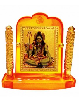 Gfaith Bulb Centre Hindu God Idol Shankar Ji Temple for Car