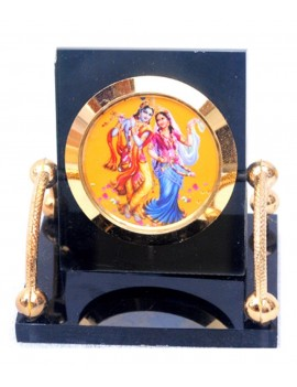 Gfaith Hindu God Idol Radha Krishna Temple For Car Dashboard