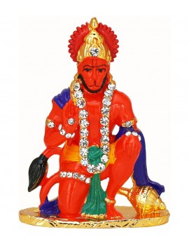 Gfaith Orange Brass Hiways God Idol Of Shri Hanuman For Car Dashboard