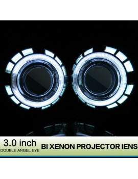 3 inch HID Bi-xenon Projector Lens With Double Angel Eye 2Pcs/set