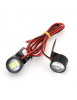 2Pcs White Motorcycle LED...