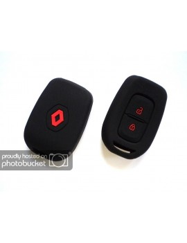 Renault Kwidduster 2 Button Silicone Key Cover Blackred