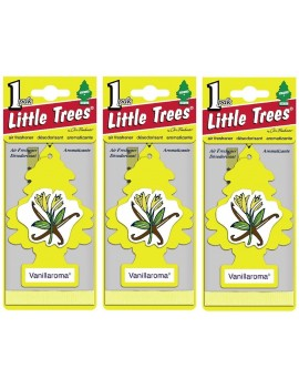 Little Tree Car Air Freshener Vanillaroma 3Pcs With Car Cleaning Hand Gloves