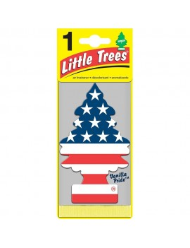 Little Trees U1P-10945 Vanilla Pride Hanging Paper Car Air Freshener With Car Cleaning Hand Gloves