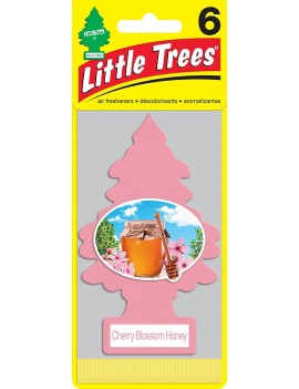 Little Trees Cherry Blossom Honey Air Freshener With Car Cleaning Hand Gloves