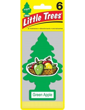 Little Trees Green Apple Air Freshener With Car Cleaning Hand Gloves