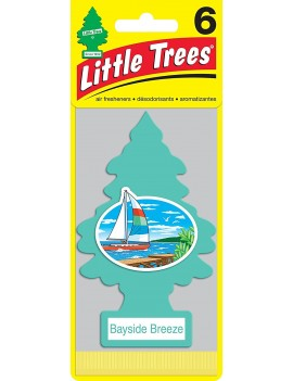 Little Trees Bayside Breeze Air Freshener With Car Cleaning Hand Gloves