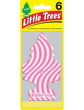 Little Trees Bubble Gum Air Freshener With Car Cleaning Hand Gloves