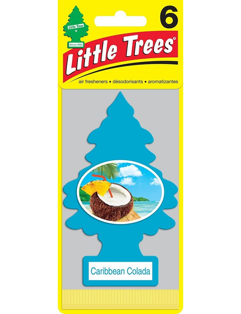 Little Trees Caribbean Colada Air Freshener With Car Cleaning Hand Gloves