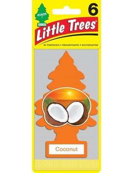 Little Trees Coconut Air Freshener With Car Cleaning Hand Gloves