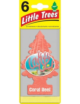Little Trees Coral Reef Air Freshener With Car Cleaning Hand Gloves