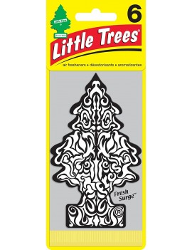 Little Trees Fresh Surge Air Freshener With Car Cleaning Hand Gloves